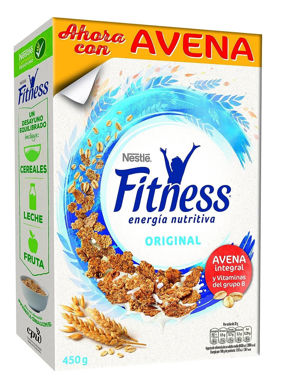 Fitness Cereales Copos de Trigo Integral, Arroz y Avena Integral Tostados - 450 gr: Amazon.es: Alimentación y bebidas