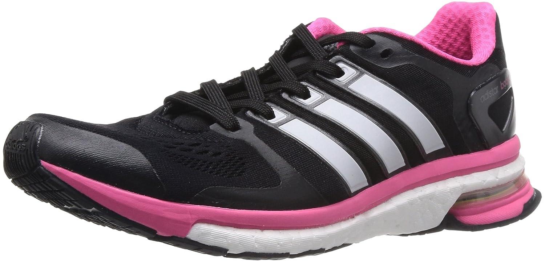 Adidas Adistar Boost ESM - Zapatillas de running para hombre 36 2/3 EU|Black 1/Zero Metallic F11/Neon Pink