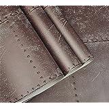 FLYRCX Retro nostalgia de chapa industrial papel tapiz estilo Loft Bar Cafetería pegatinas de pared 0.53*10m personalidad…