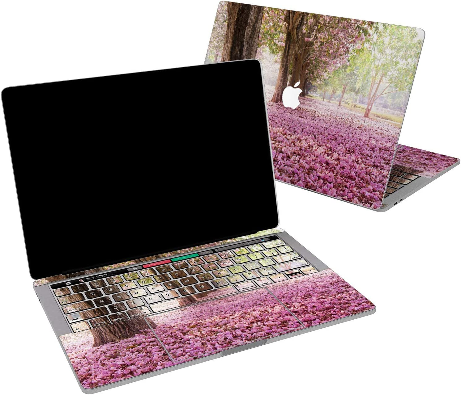 Lex Altern Vinyl Skin for MacBook Air 13 inch Mac Pro 16 15 Retina 12 11 2020 2019 2018 2017 Spring Blossom Pink Flowers Floral Cherry Bloom Touch Bar Wrap Trackpad Cover Keyboard Decal Sticker