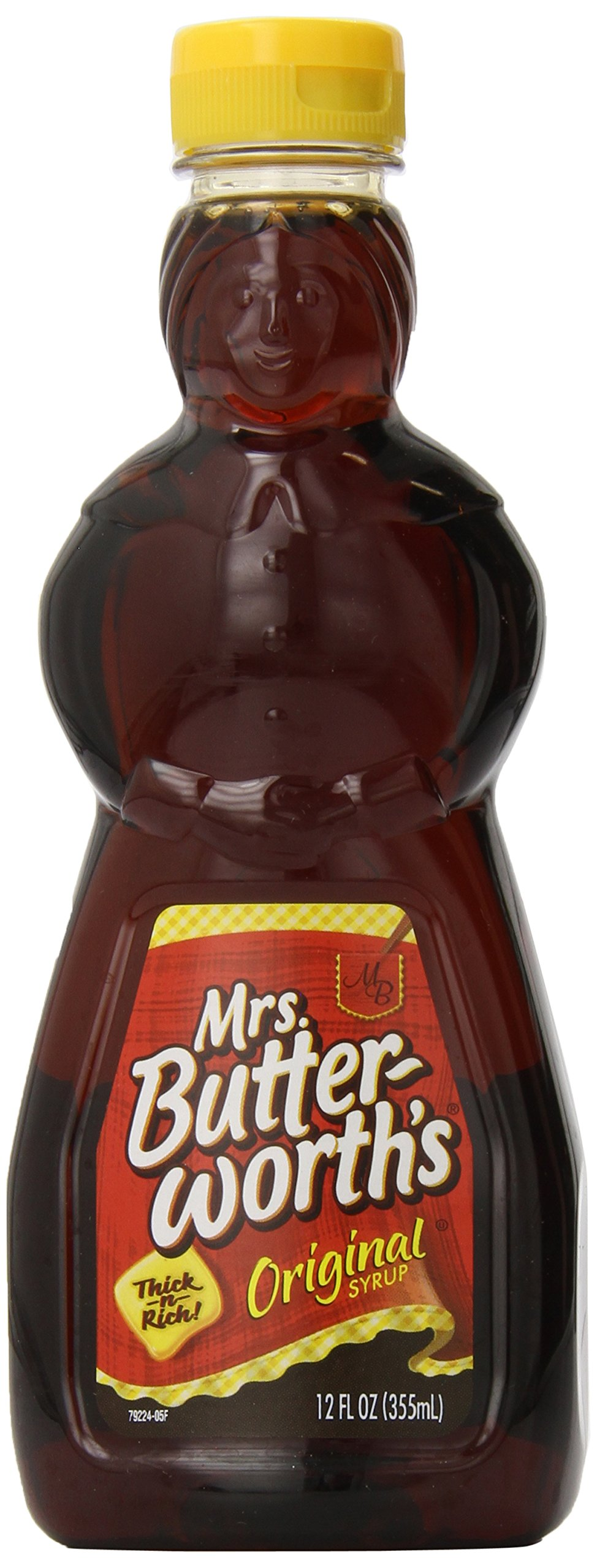 Mrs. Butterworth's Syrup, Original, 12 Ounce (Pack of 12)
