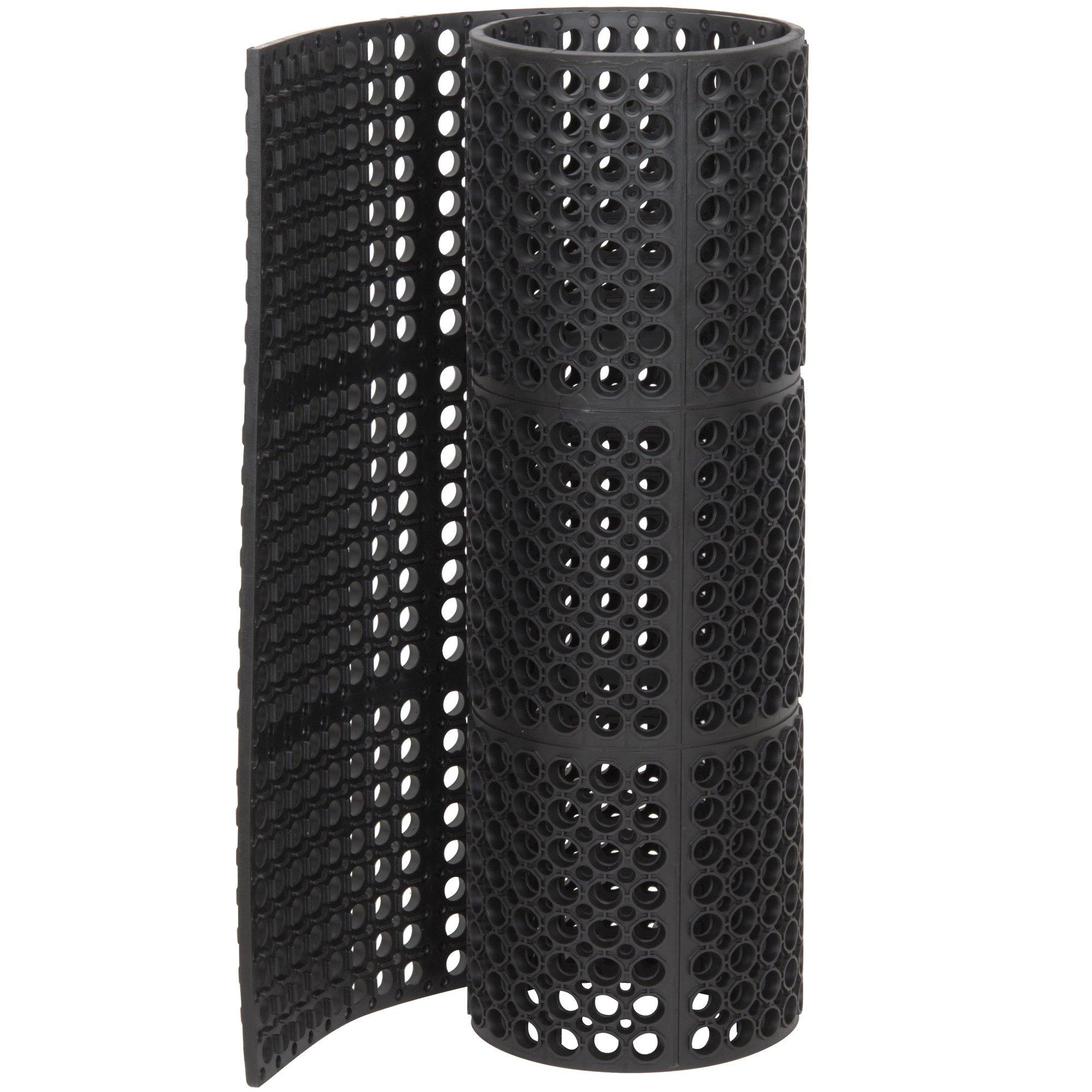 Cactus Mat 3525-C4 Rubber Vip Tuffdek Heavy Duty Anti-Fatigue and Anti-Slip, 3'X 2', Black