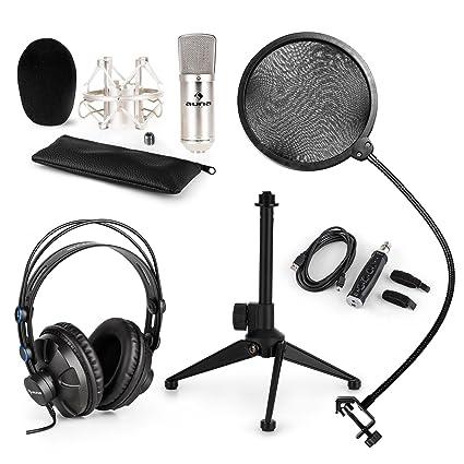 auna - CM001S, Set de Micrófono V2, 4 piezas, Micrófono de ...