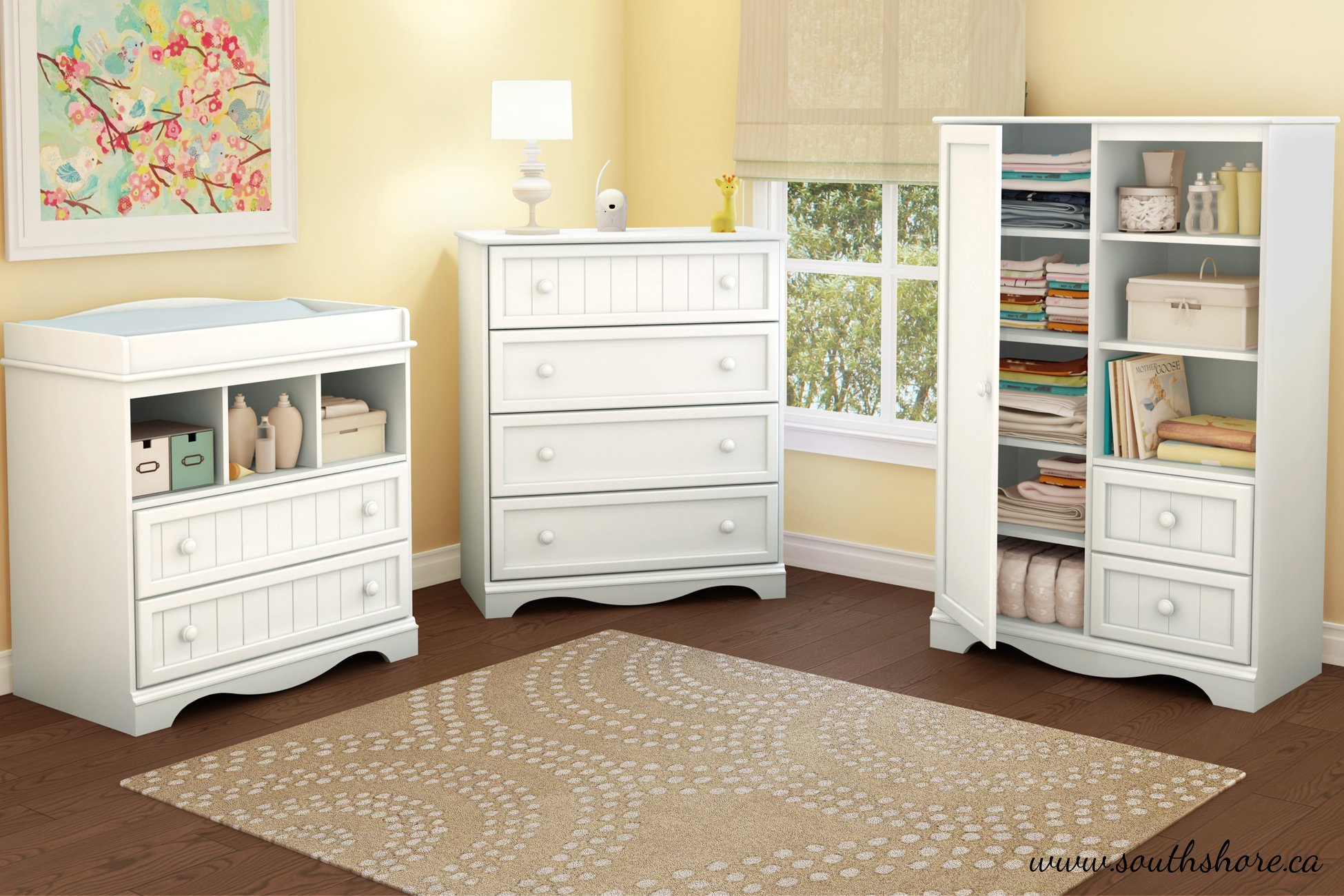 South Shore Savannah Collection Door Chest, Pure White by South Shore
