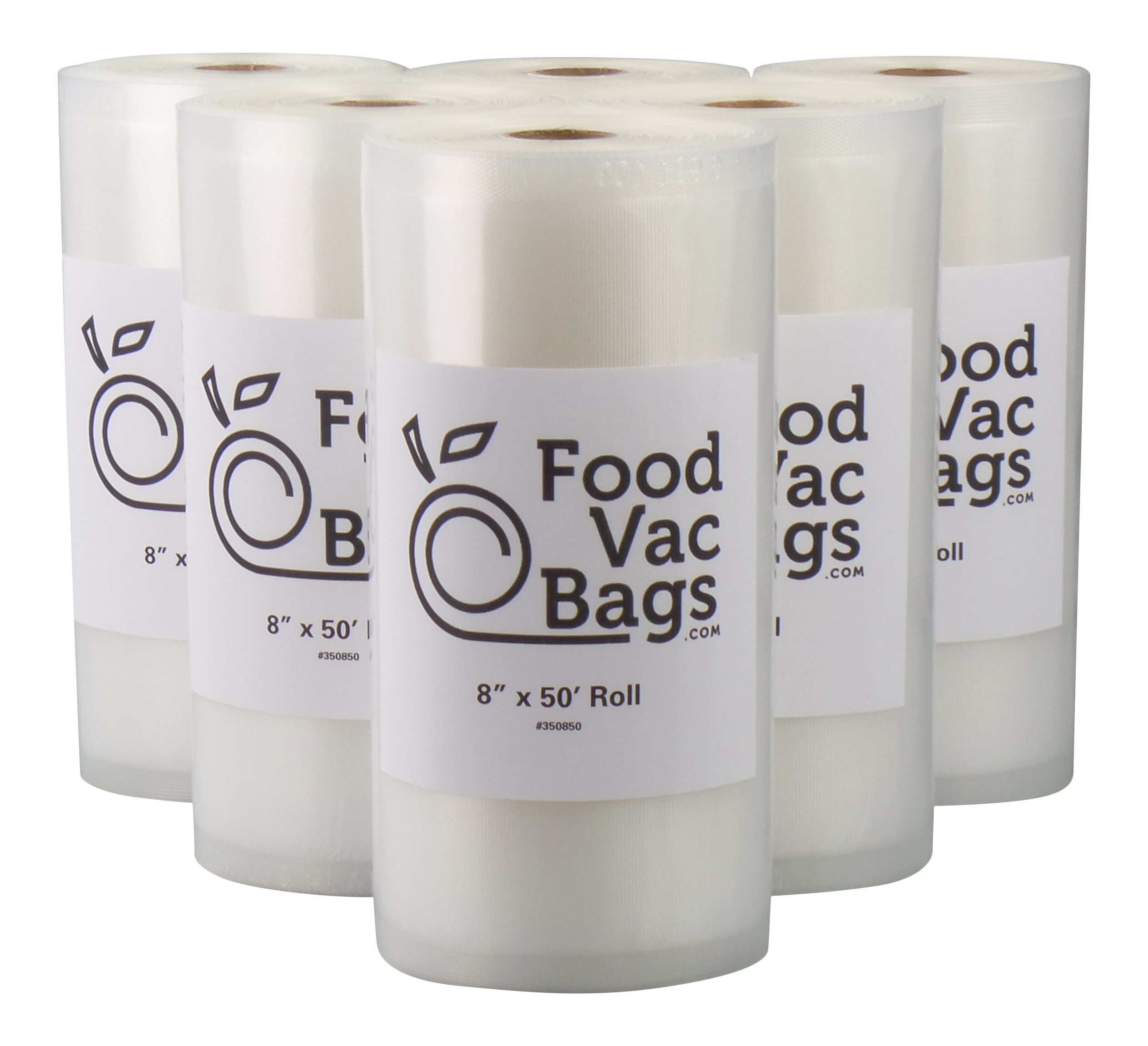 Twelve 50' Rolls Vacuum Food Sealer Bags Embossed 4 mil Commercial Grade Six 8'' X 50' and Six 11'' X 50' by FoodVacBags (Image #2)