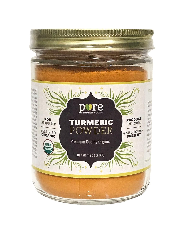 Organic Turmeric Powder Spice 8.5 oz - Freshly Packed in Glass Jar
