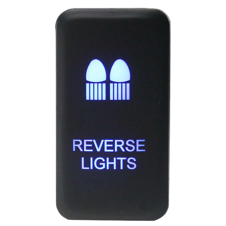 Amazon.com: Iztoss Toyota Blue LED Push Switch with Connector Wire Kit ( reverse  Lights ): Automotive