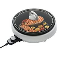 Aroma Housewares ASP-137 3-Quart/10-inch 3-in-1 Super Pot with Grill Plate