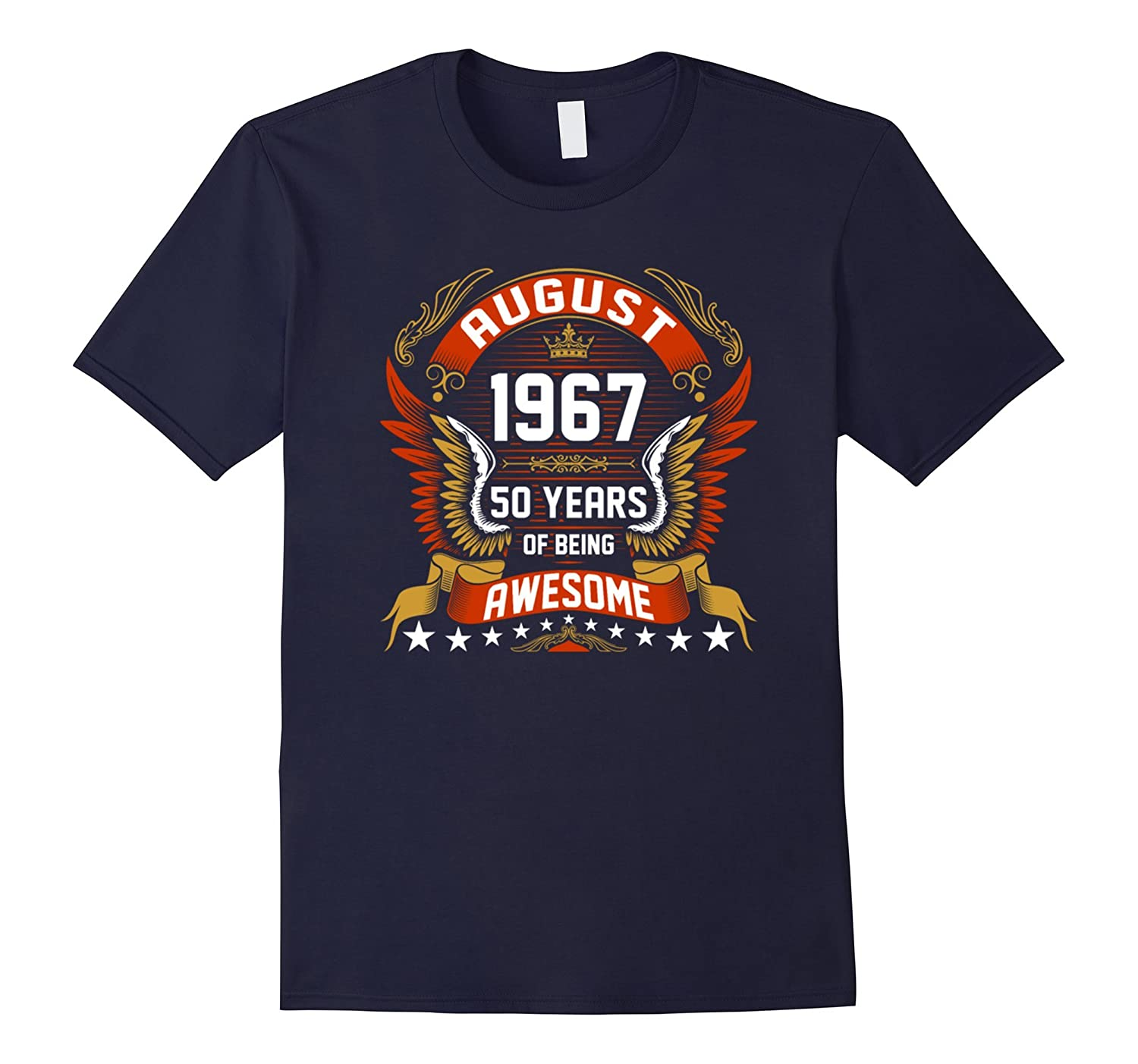 August 1966 50th Birthday 50 Years Old Gift T-Shirt-Art