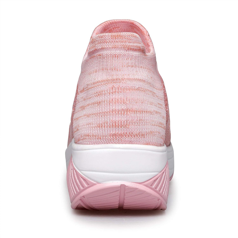 Belilent Slip On Walking Shoes Women Lightweight Sock Sneakers Work Hiking Running Shoes Air Cushion Indoor Outdoor