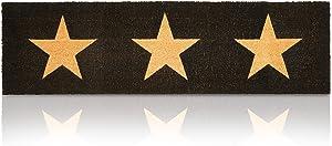 Long Door Mat with Stars, Nonslip Coir Welcome Mat (17 x 60 in.)
