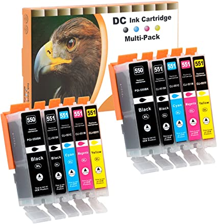 D C 10x Druckerpatronen Kompatibel Für Canon Pgi 550 Xl Cli 551 Xl Für Canon Pixma Mg7550 Mx925 Ip7200 Ip7250 Mg5400 Series Mg5450 Mg5550 Mg5650 Mg5655 Mx725 Mx920 Ip8750 Ix6850 Mg6350 Mg6450 Mg6650 Bürobedarf