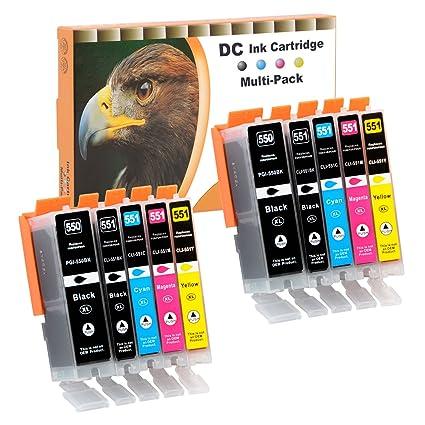 D&C 10er Set Cartuchos de tinta para impresoras PGI550 ...