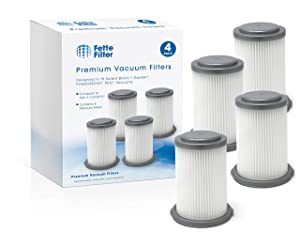 Fette Filter - Vacuum Filters Compatible with Black + Decker POWERSERIES PRO 2in1 Cordless Vacuums HCUA525 Series. Compare to Part # CUAHF10 (4-Pack)