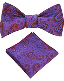 59686d79beab Amazon.com: HISDERN Men's Christmas Sock Woven Party Self Bow Tie ...