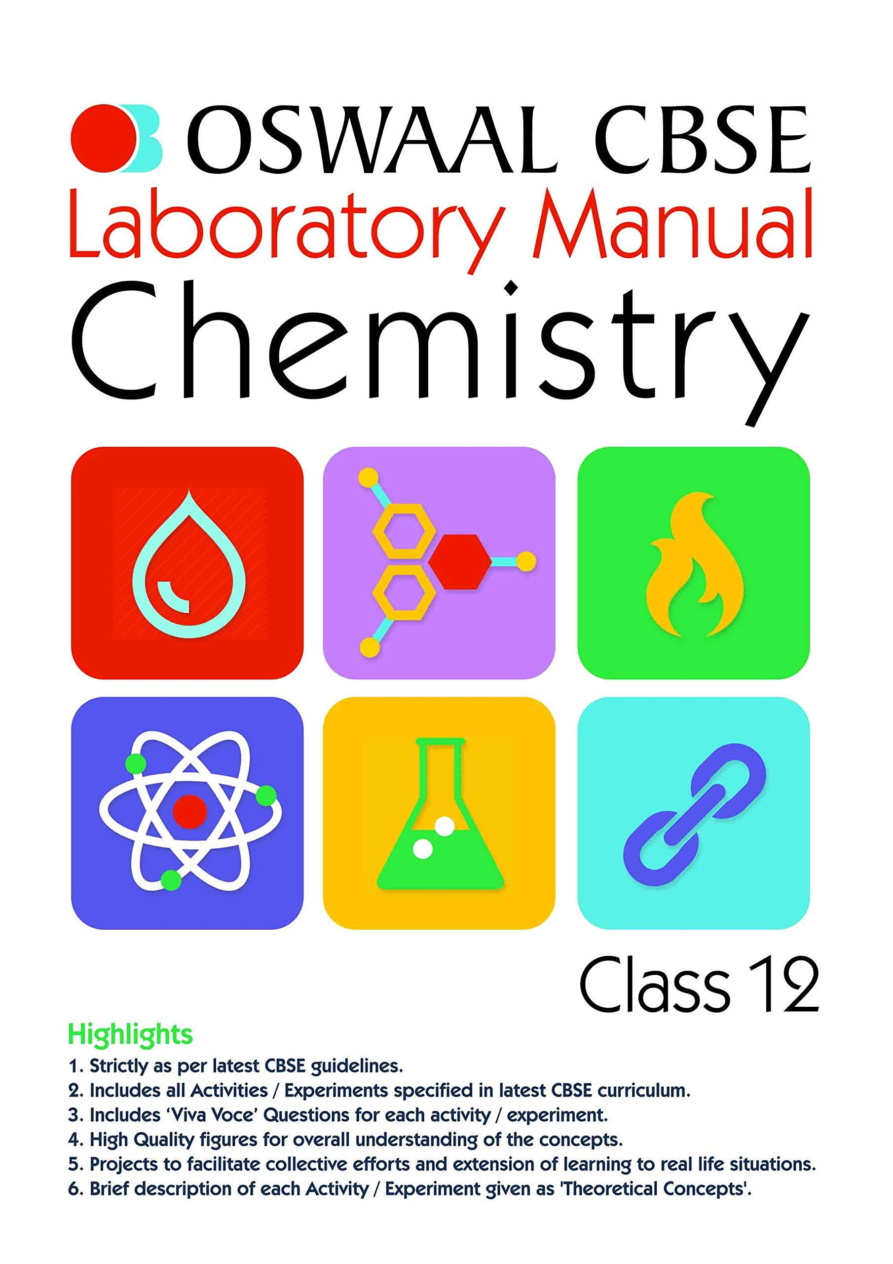 Oswaal CBSE Laboratory Manual for Class 12 Chemistry: 9789351276203:  Amazon.com: Books