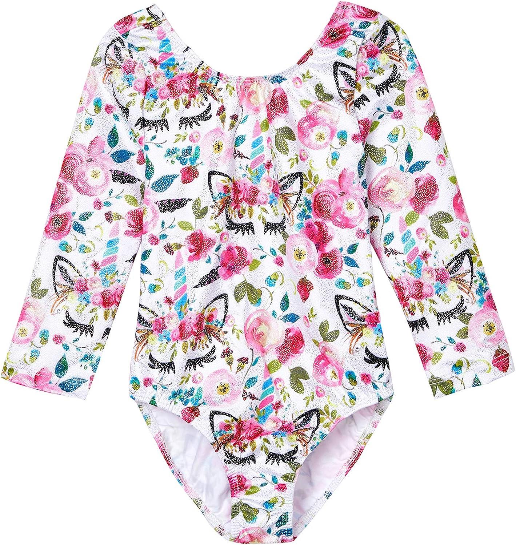 Midout Tollder Girls Fancy Cute Gymnastics Leotards One-Piece Sparkly Biketard for Kids 2-9T: Clothing