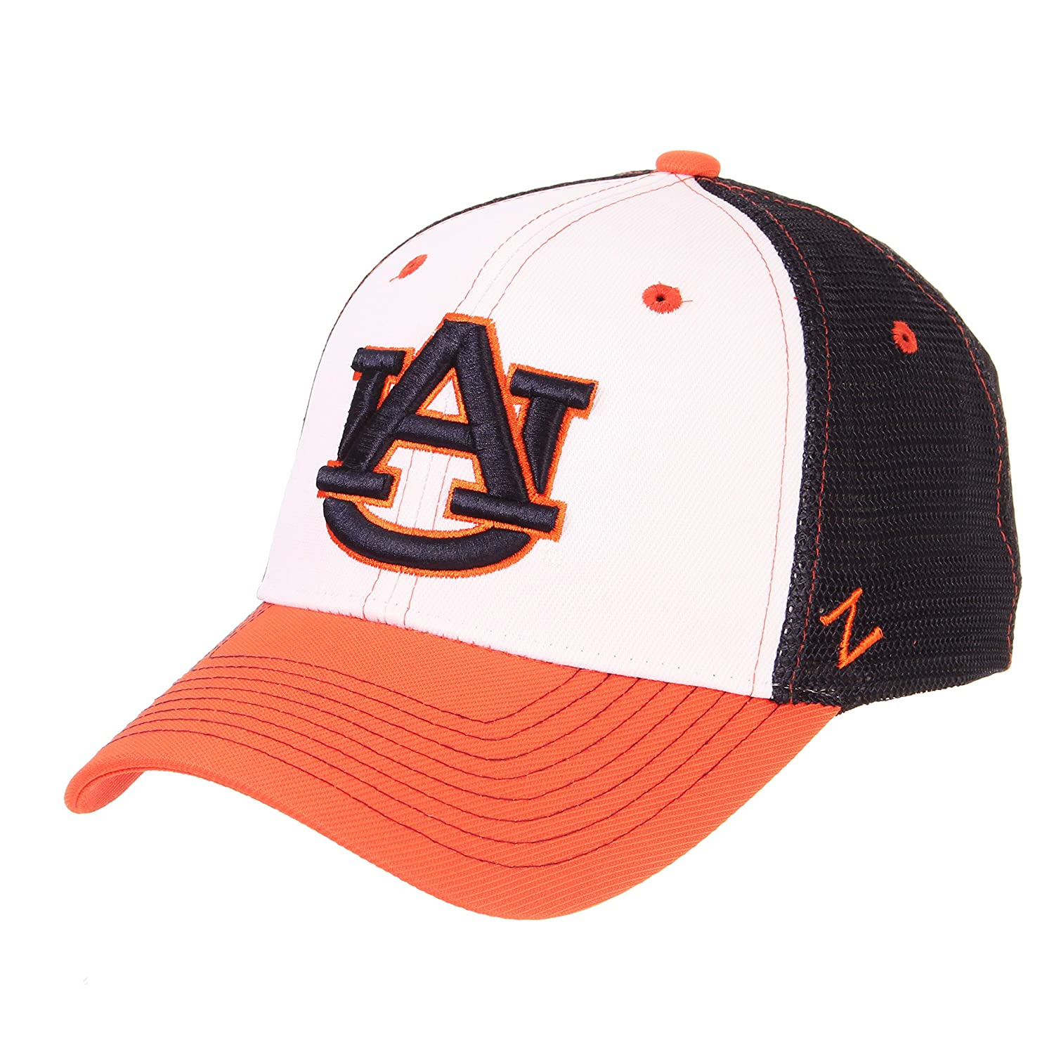 Adjustable Zephyr NCAA Auburn Tigers Mens Threepeat Relaxed Cap White//Team Color