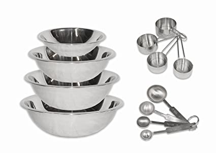 7a394fdaae6 Image Unavailable. Image not available for. Color  CucinaPrime Stainless  Steel Mixing Bowls ...