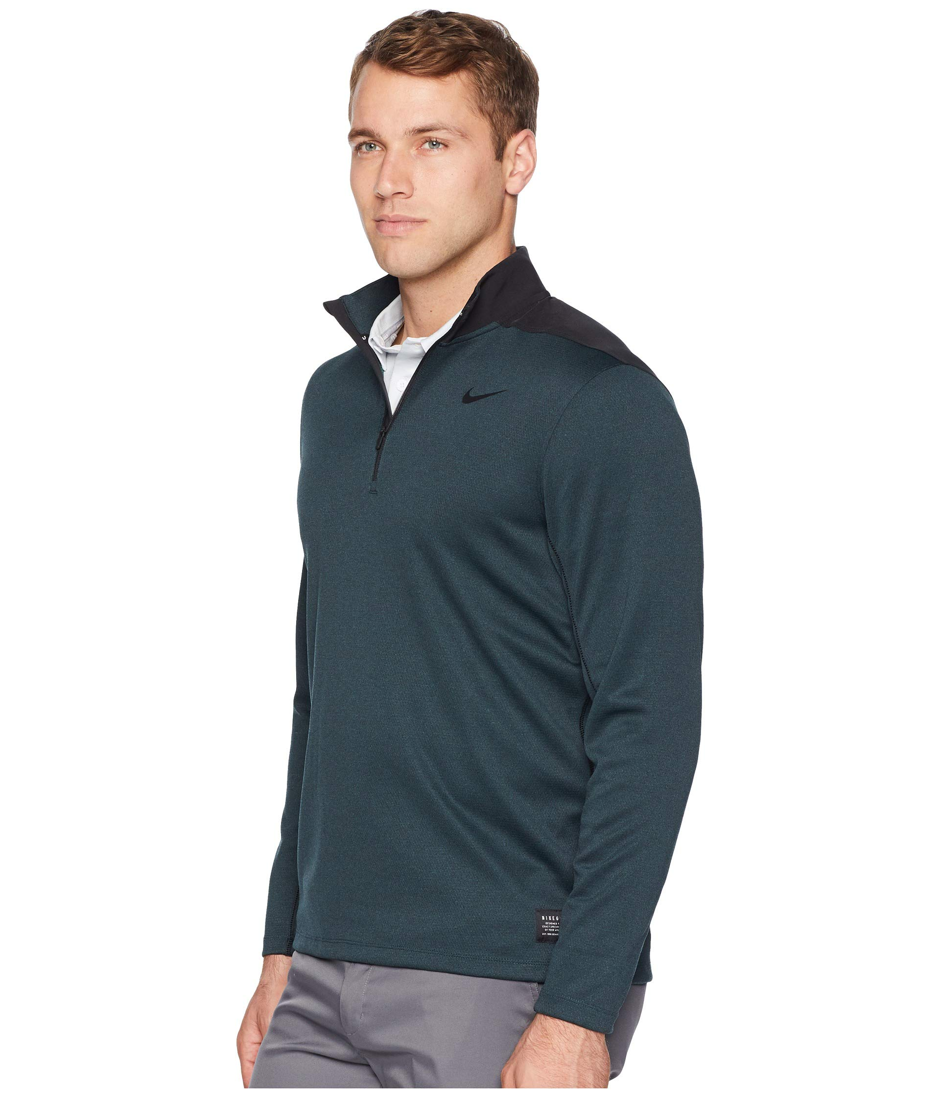 Nike Men's Dry Top Half Zip core Golf Top (Black Midnight Spruce, Small) by Nike (Image #2)
