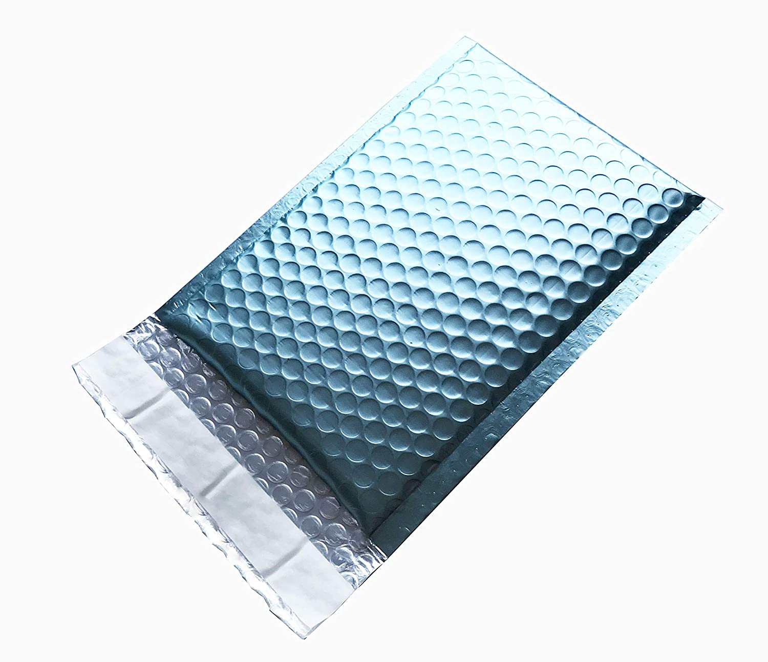 100 ProLine Matte Metallic Ice Blue Bubble Mailers 6x10 Inch Self Seal Padded Envelopes