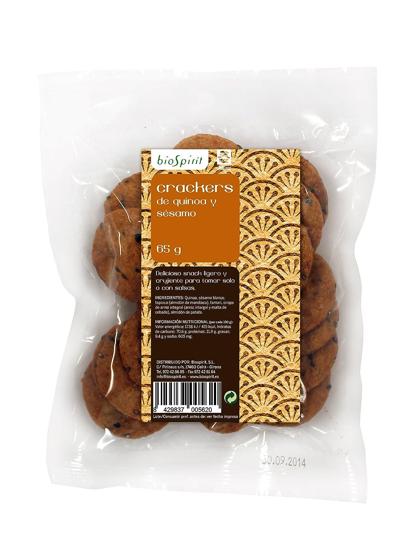 Biospirit Crackers de Quinua y Sésamo - 65 gr: Amazon.es: Alimentación y bebidas