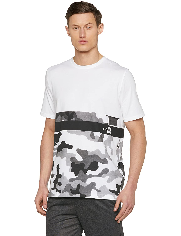TALLA M. Under Armour UA Camo Border SS T Camiseta de Manga Corta, Hombre