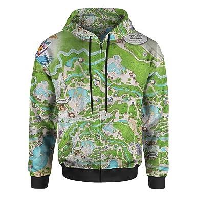 Amazon Com Blizzard Beach Map Men Zip Up Hoodie Clothing
