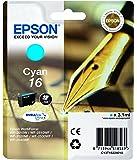 Epson - C13T16224010 - 16 Cartouche d'encre - Cyan