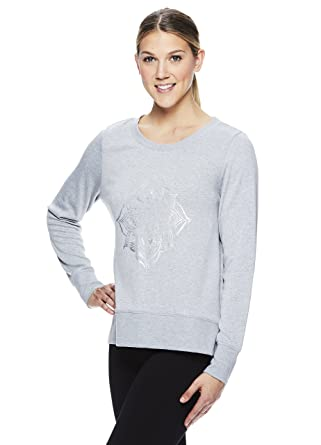 032b3f59bb Gaiam Women's Pullover Long Sleeve Yoga Shirt - Activewear Top w/Strappy  Open Back Options