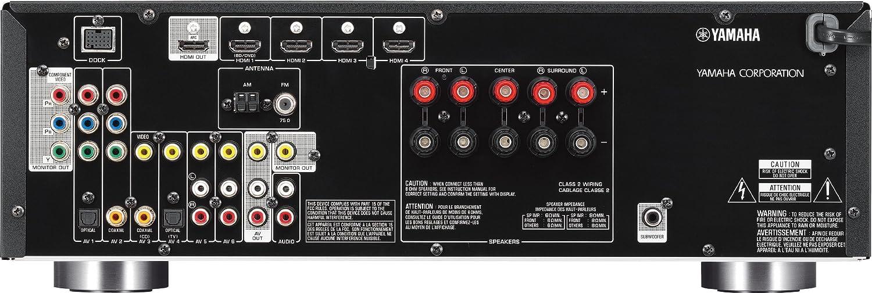 Yamaha RX-V471 5.1channels 3D Negro - Receptor AV (5.1 canales, 105 W, 130 W, 0,9%, 24-bit/192kHz, 100 dB): Amazon.es: Electrónica