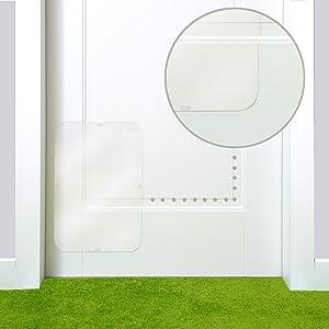 PETFECT Door Scratch Protector Premium (18 x 12) Cat Door Cover for Interior & Exterior Use - Clear
