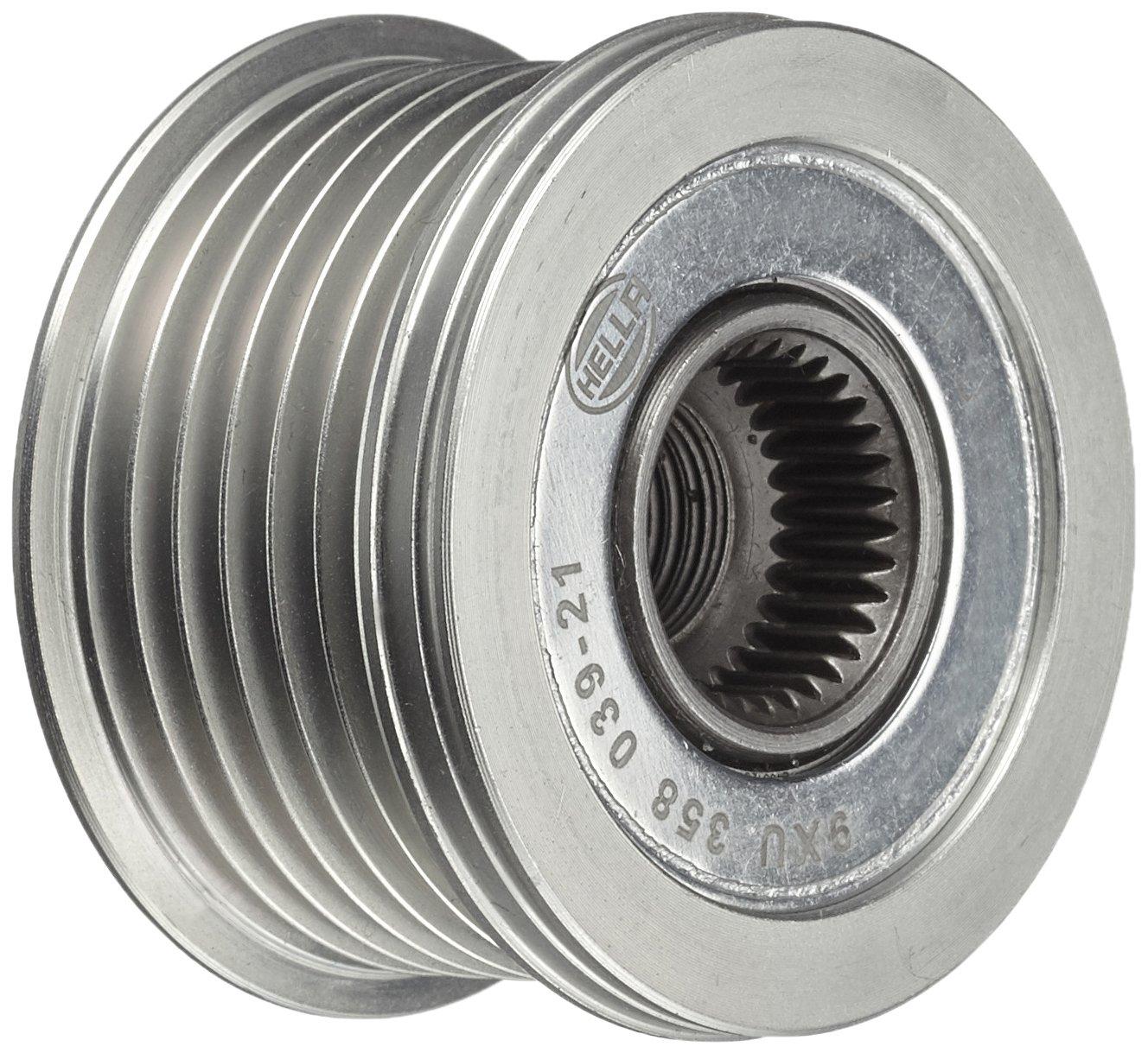 HELLA 9XU 358 039-211 Generatorfreilauf, Riemenscheiben-Ø : 49,7mm, Gewindemaß : M14x1,5, Anzahl der Rillen: 6 Hella KGaA Hueck & Co.