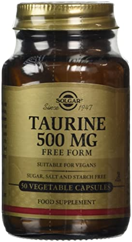 Solgar Taurine 500 mg Vegetable Capsules - Pack of 50