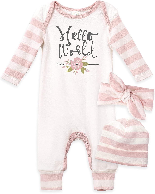 Tesa Babe Baby Girl Clothes Romper Bodysuit Jumpsuit Pajamas Gift Set Newborn
