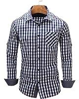 LOKOUO Slim european size NEW New Arrival Men's shirt Long Sleeve Plaid Shirts Mens Dress Shirt Casual Shirts 105 Cool