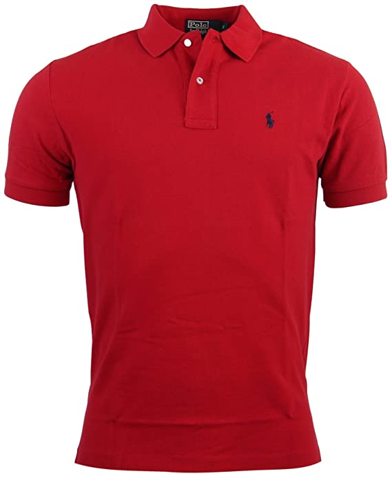 Polo Ralph Lauren Men\u0027s Classic Fit Mesh Polo Shirt at Amazon Men\u0027s  Clothing store: