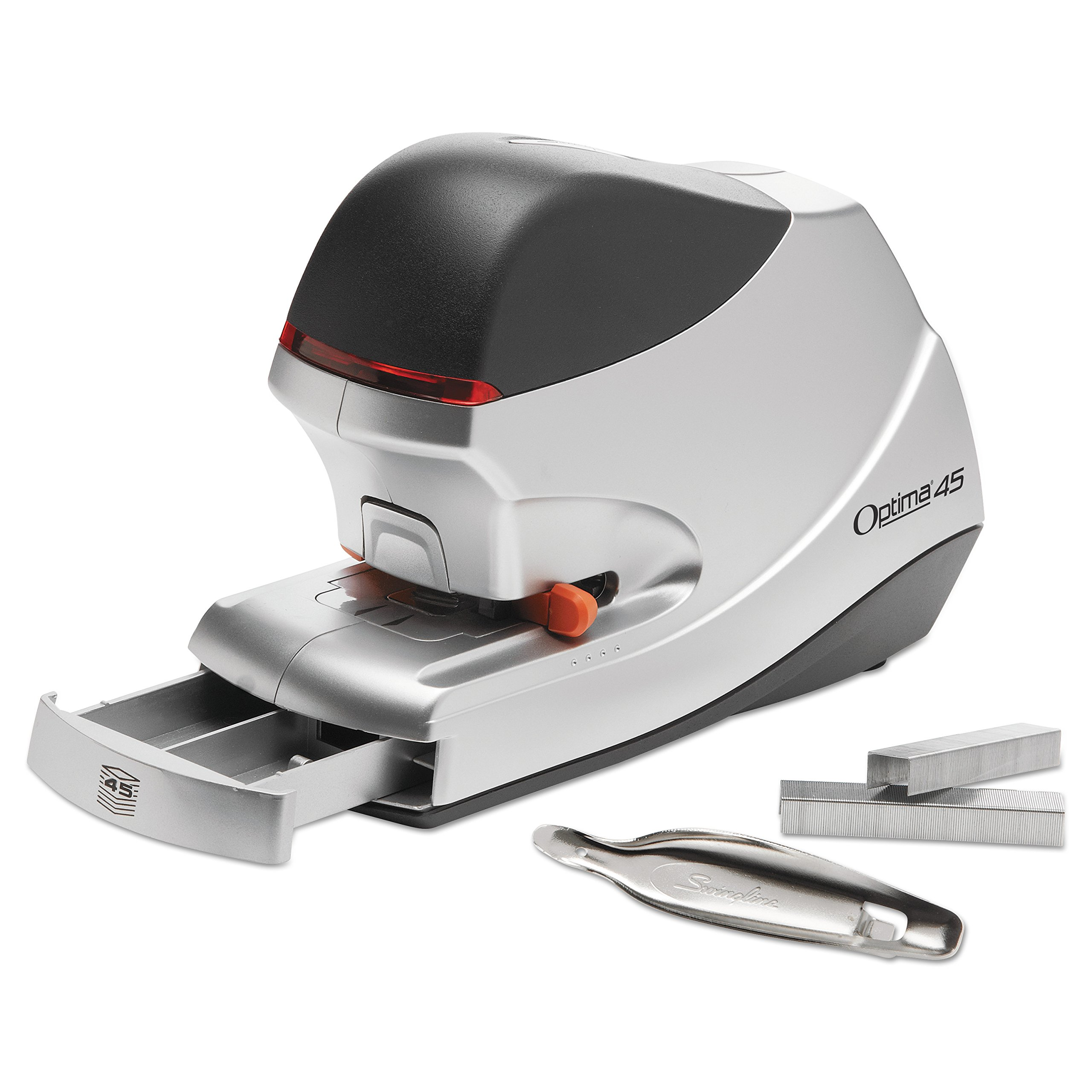 Swingline Electric Stapler Value Pack, 45 Sheet Capacity, Optima 45, includes High Capacity Staples and Staple Remover (48209)