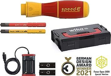 Wiha Speede Ii Electric Screwdriver 44318 7 Pieces With Slimbits Batteries And Usb Charger In L Boxx Mini Amazon De Baumarkt
