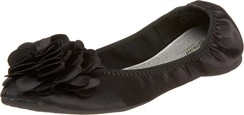 NOT OF THIS WORLD WOMEN SOLID BLACK BALLET FLATS BOW ACCENT BRAND NEW IN BOX