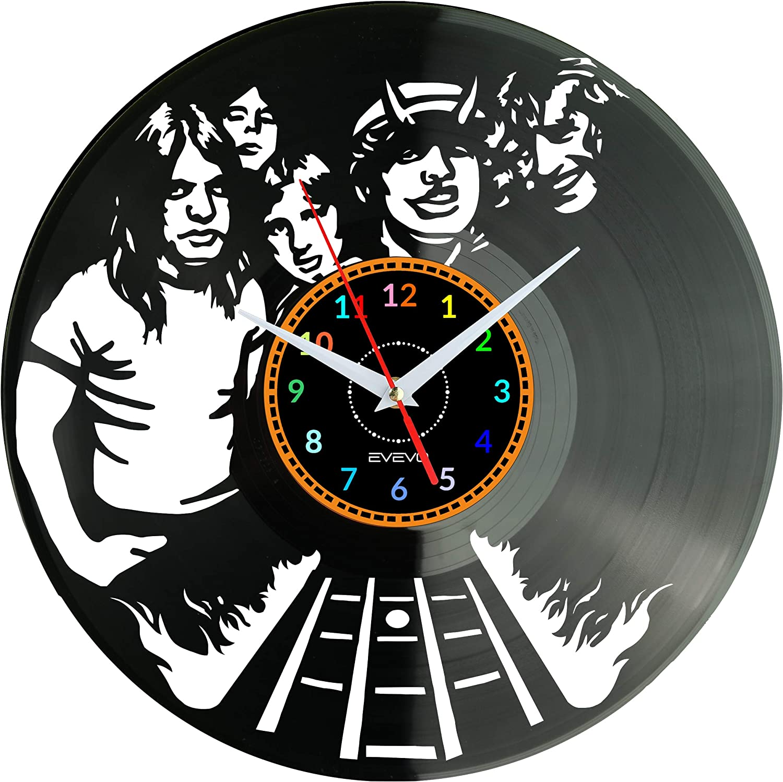 ROCK MUSIC ACDC AC DC OROLOGIO DA PARETE LP 33 GIRI DISCO IN VINILE 33 GIRI