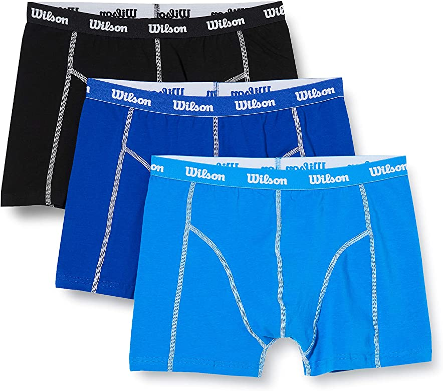 Wilson Calzoncillos para Hombre, Bóxers Value Cotton Range (Pack ...