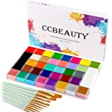CCbeauty 36 Colors Face Body Paint Oil Professional Flash Non-Toxic Hypoallergenic Halloween Artist Fancy Cosplay Party SFX F