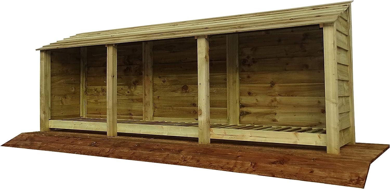 Width 1870mm x Height 1260 1800mm x Depth 810mm Storage Log Store 4ft//6ft