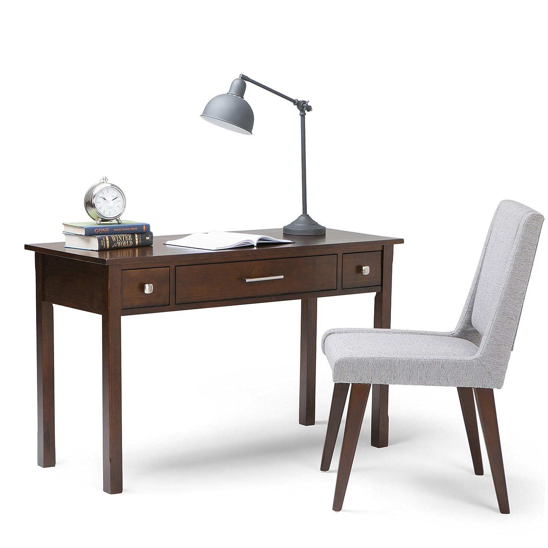 Amazon Simpli Home Avalon fice Desk Rich Tobacco Brown