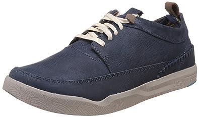 Hush Puppies Men's Lock Genius Blue Leather Sneakers - 11 UK/India (45 EU