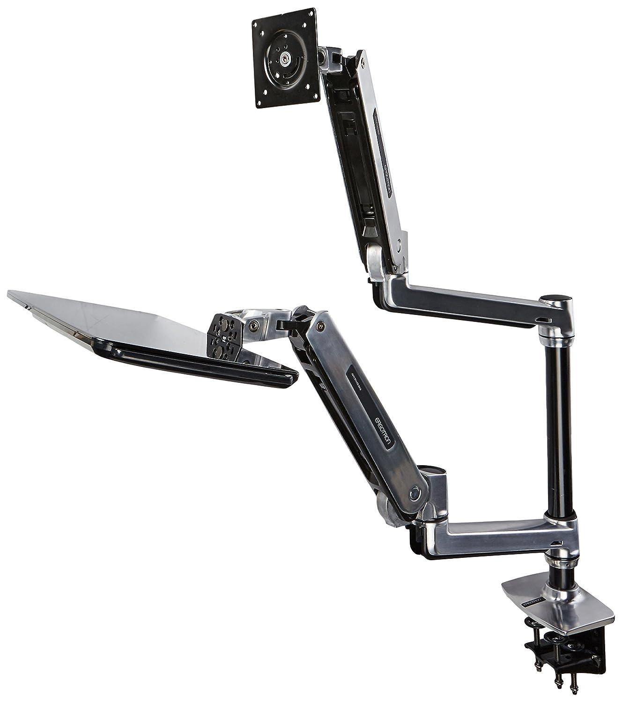 Amazon.com : Ergotron 45 405 026 WorkFit LX Sit Stand Desk Mount System,  Mounting Kit, Polished Aluminum : Kitchen U0026 Dining