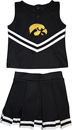 University of Iowa Hawkeyes Toddler and Youth 3-Piece Cheerleader Dress