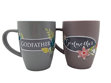 Amazon.com: Godmother and Godfather Mug Gift Set for Grandparents ...