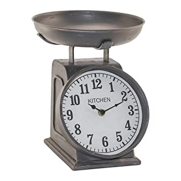 amazon com vintage clock with faux scale home kitchen rh amazon com